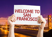 Welcome to San Francisco card — Stock Photo