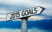 2015 Goals sign — Stock Photo