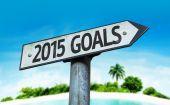 2015 Goals sign — Stock Photo