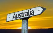 Text:Australia on sign — Stock Photo