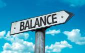 Text:Balance  on sign — Stock Photo