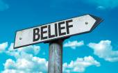 Text:Belief  on sign — Stock Photo