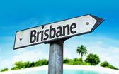 Text:Brisbane on sign — Stock Photo