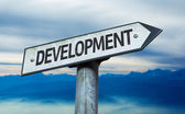 Text:Development   on sign — Stock Photo