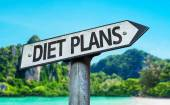 Diet Plans sign — Stock Photo