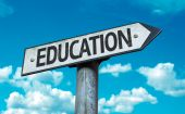 Text:Education on sign — Stock Photo