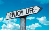 Enjoy Life sign — Stock Photo