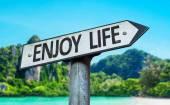Enjoy Life sign — Stock Photo