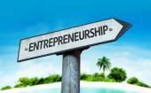 Text : Entrepreneurship on sign — Stock Photo