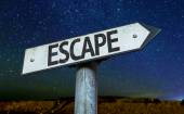 Text : Escape on sign — Stock Photo