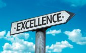 Text : Excellence on sign — Stock Photo