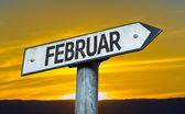 February (in German) sign — Foto de Stock