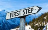 First Step sign — Foto de Stock
