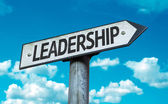 Text:Leadership on sign — Stock Photo