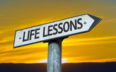 Life Lessons sign — Stock Photo