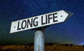 Long Life sign — Stock Photo