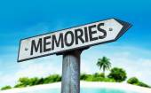 Text:Memories on sign — Stock Photo