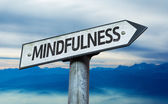 Text:Mindfulness on sign — Stock Photo