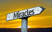 Miracles sign at sunset — Stock Photo