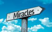 Miracles sign with sky — Stock Photo