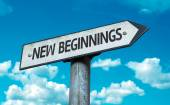 New Beginnings sign — Stock Photo
