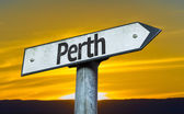 Text  Perth sign — Stock Photo