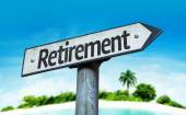 Text  Retirement on sign — Stock Photo