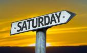 Text Saturday on sign — Stock Photo