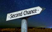 Second Chance sign — Stock Photo