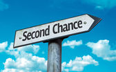 Second Chance sign — Stockfoto