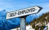 Self-Employed sign — Stock Photo