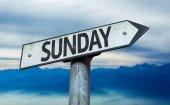 Text Sunday on sign — Stock Photo
