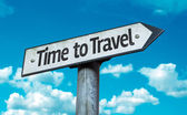 Time to Travel sign — Stock Photo