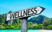 Text Wellness on sign — Stock Photo