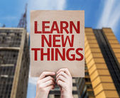 Learn New Things card — Stock Photo