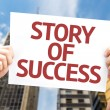 Story of Success card — Stock Photo #67089007