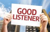 Good Listener card — Stock Photo