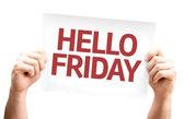 Hello Friday card — Stock Photo