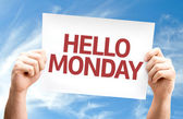Hello Monday card — Stock Photo