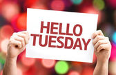 Hello Tuesday card — Stock Photo