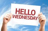 Hello Wednesday card — Stock Photo