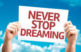 Never Stop Dreaming card — Stock Photo
