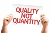 Quality Not Quantity card — Stock Photo
