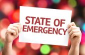 State of Emergency card — Stock Photo