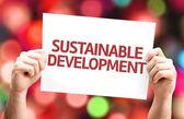 Sustainable Development card — Stock Photo
