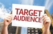 Target Audience card — Stock Photo
