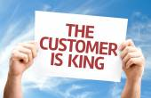 The Customer is King card — Zdjęcie stockowe