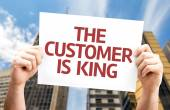 The Customer is King card — Stock Photo