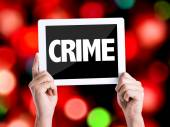 Tablet pc with text Crime — Stock Photo