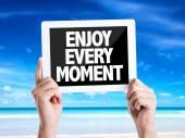 Text Enjoy Every Moment — Stock Photo